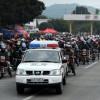 Motocykliści wracają do domu na Święto Wiosny