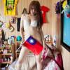 Tajwan: Modelka protestuje przeciw usunięciu flagi Republiki