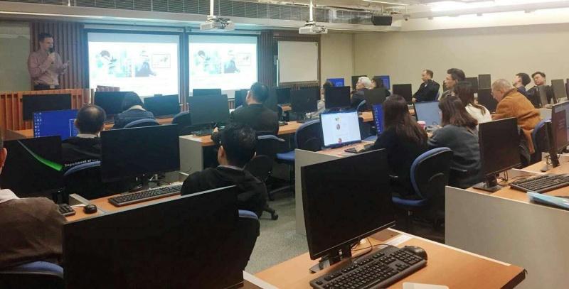 Wykład na temat edukacji VR wygłoszony przez autora w Hong Kong Polytechnic University w styczniu 2019 r.